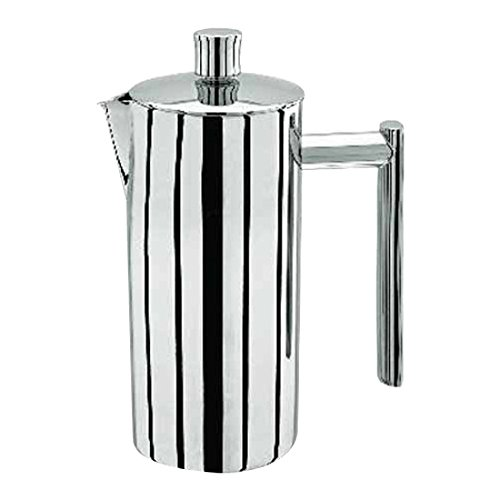 Stellar 10-Cup Double Wall Cafetiere, Silver, 1.2 Litre SM72 Cafetieres Stainless Steel Coffee Tea & Espresso