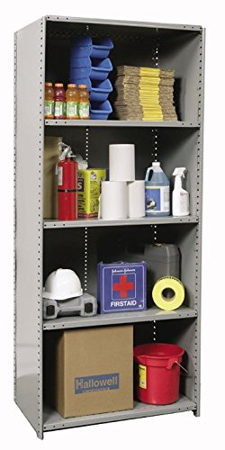 Extra Heavy-Duty Closed Shelving Starter Unit with 8 Shelves 36