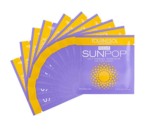 SunPop Self Tanning Towelettes Medium 10-count - self tan - tanning towels