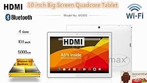 ARBUYSHOP 10.1 pulgadas tableta Quadcore IPS con Allwinner A31S, 1280 * 800 píxeles, compatible con WiFi, Bluetooth, HDMI, almacenamiento de 8GB, Android 4.4, Añadir funda de piel