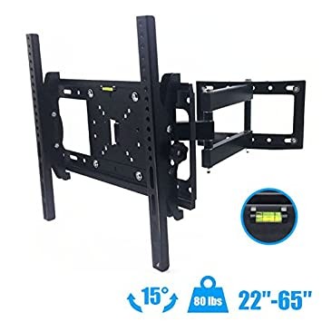 Full Motion TV WALL MOUNT BRACKET 10 22 32 40 42 46 50 55 60 65 70 Fixed //Tilt