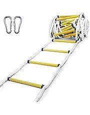Touwladder Brandwerende Reddingsladder 3m-50m (9,8-164 Voet), Multifunctionele Ladder Voor Zware Toepassingen, Reddingsladder, Perfect Voor Ramen En Balkons (35m/115FT)