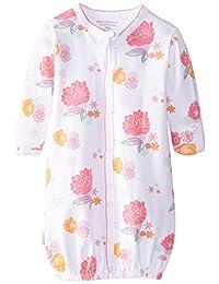 Kushies Baby-Girls Newborn Convertible Gown Poppy Print