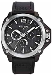 Hector Men's Black Dial Day And Date Watch