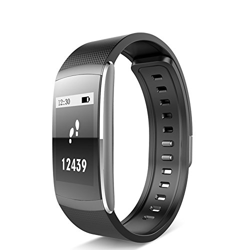 I6 Pro Smart Bracelet, iWOWN Sport Smart Wristband IP67 Waterproof 24-Hours Heart Rate Monitor Fitness Tracker for iPhone Android Phone (Black)