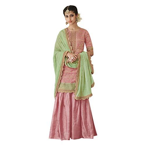Indian Ethnic Gorgeous Garara Salwar Kameez Suit Muslim Party Wear - Party Suits Wear For Salwar Women