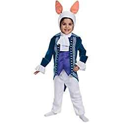 Disguise White Rabbit Toddler Deluxe Alice Through The Looking Glass Movie Disney Costume, Small/2T