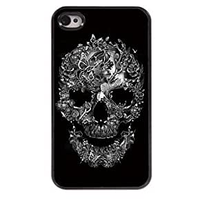 SHOUJIKE Skull and Butterfly Design Aluminum Hard Case for iPhone 4/4S