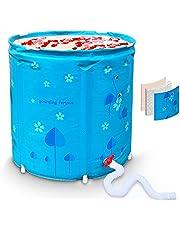 Portable Foldable Bathtub, Maintain Temperature Efficiently Flamingo Freestanding Bath Tub, Easy to Install Bathroom Spa or Ice Bath Soaking Tub, Full Area Thickened Thermal Foam