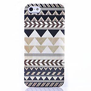 Gray Black Stripe Pattern ABS Back Case for iPhone 5/5S
