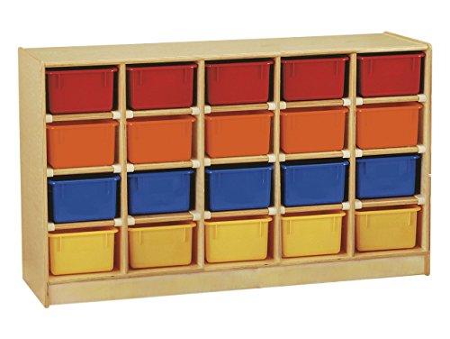 JNT0421JC - Jonti-Craft 20 Cubbie-Tray with Colored Bins