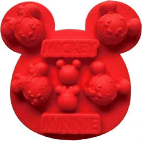 Mickey Minnie Mouse Silicone Baking Pan Ice Cube Tray Muffin Chocolate Mold Bakeware Non-Stick -