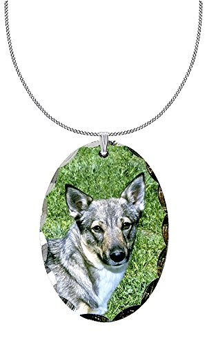 Canine Designs Swedish Vallhund Scalloped Edge Oval Pendant by Canine Designs
