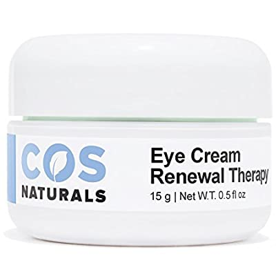 COS Naturals Eye Cream Renewal Therapy with Vitamin C E Hyaluronic Acid For Dark Circles Puffiness Fine Lines and Wrinkles, 15 Grams 0.5 fl.oz