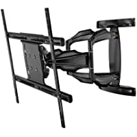 Peerless Full-Motion Plus Wall Mount for 50-Inch - 80-Inch Flat Panel Screens (Black)