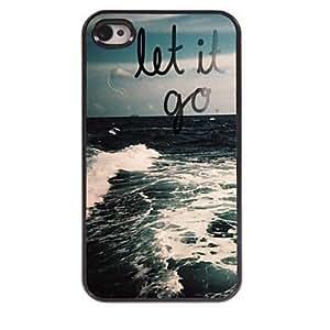 WQQ Let it Go Design Aluminum Case for iPhone 4/4S