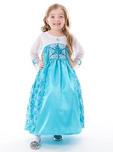 [Little Adventures Satin Ice Princess Girls Costume - Small (1-3 Yrs)] (Jasmine Costumes For Girl)