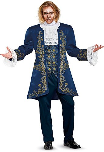 Disney Men's Plus Size Beast Prestige Adult Costume, Blue, X-Large