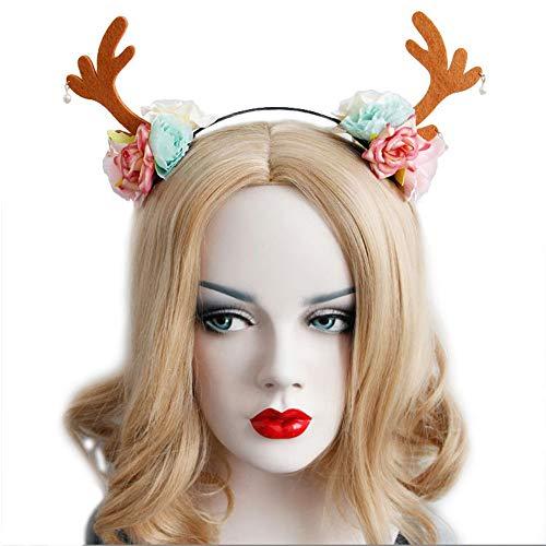 Halloween Headband Devil Horns Ghost Hand Antlers Bat HairBand Costume Accessory -