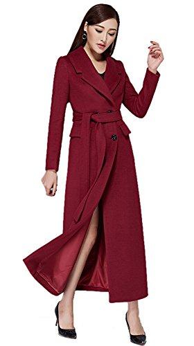 Insun - Abrigo - chaqueta guateada - Manga Larga - para mujer granate