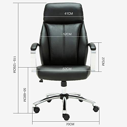 Kontorsstol läder svängbar fåtölj ergonomisk avslappnande design ryggstöd och sitthöjd maxvikt kapacitet 100 kg