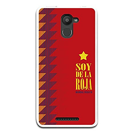 Carcasa Soy de La Roja BQ Aquaris U Plus: Amazon.es: Electrónica