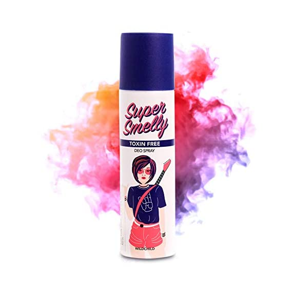 Super Smelly Wildchild Natural & Long Lasting Deodorant Spray | For Women, Girls & Teens | No Paraben, Sulphate