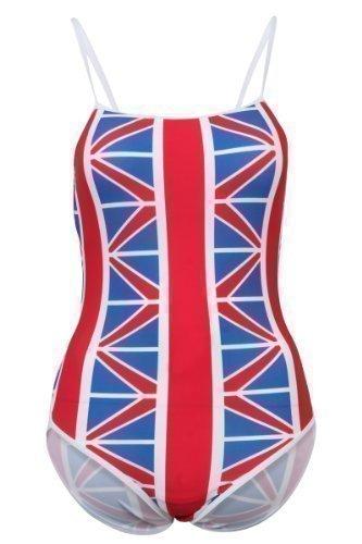 2a4c5ca095 Only Swim New GB Flag Union Jack Swimming Costume Ladies Swimsuit:  Amazon.co.uk: Sports & Outdoors