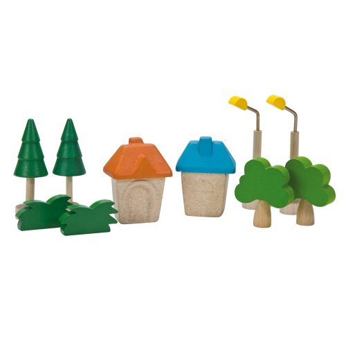 (Plan Toys City Road and Rail City Accessories by PlanToys)