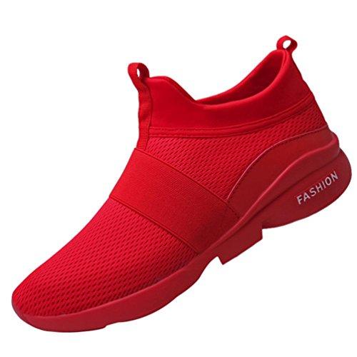 Challenge Rosso da Sportive da Uomo Traspiranti Sneakers Scarpe Scarpe Imbottite Unisex Basse Uomo Allacciare Scarpe Tela di Scarpe Scarpe da Ginnastica BRarBq