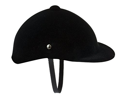 18 Inch Doll Hat Accessories Traditional Black Velvet English Style Riding Helmet with Strap Perfect for the 18 Inch American Girl Doll & More! by Sophia's, Doll Horse Riding (Horse Riding Costume)
