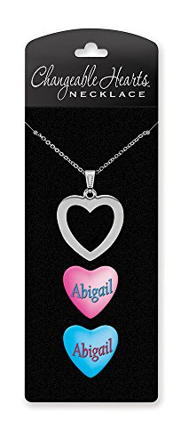 Peace Necklace Sign Heart (Dimension 9 Changeable Hearts Personalized Heart Pendant Necklace - Abigail, 18