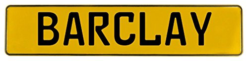 Vintage Parts 601620 Yellow Stamped Aluminum Street Sign Mancave Wall Art (Barclay)