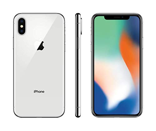 Apple iPhone X (64GB) - Silver [works exclusively with Simple Mobile]