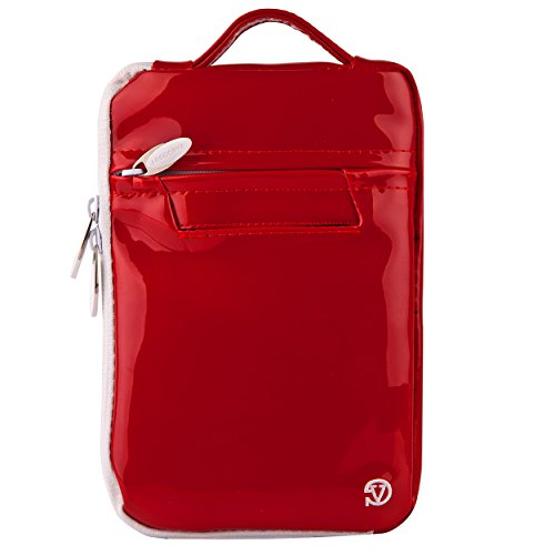 VG Red Patent Hydei Carrying Bag for Acer Iconia One 7, B1-720, B1-710, B1-721 710 Clutch