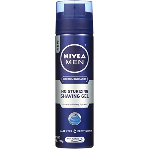NIVEA Men Maximum Hydration Moisturizing Shaving Gel - For Dry Skin - 7 oz. Can (Pack of 3) ()