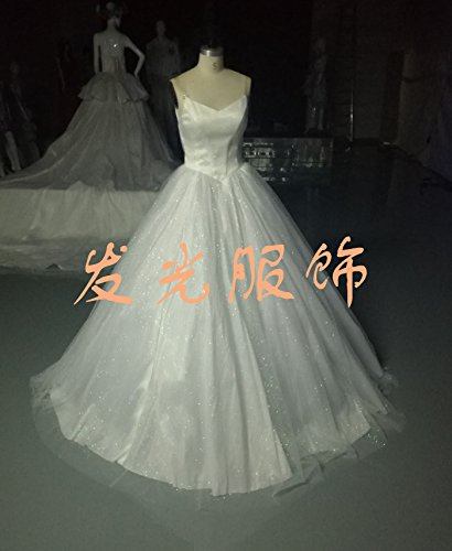 luxury led wedding dress light up bridal gown fiber optic formal