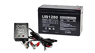 12V 8AH Replaces Battery for Lowrance Portable Fishfinder + 12v 1Amp Charger