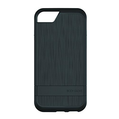 Body Glove Case for iPhone 7 & 6/6s, Satin Kickstand Black/Black