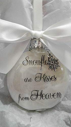 (Memorial Snowflakes are Kisses from Heaven Ornament Keepsake Sympathy Gift)
