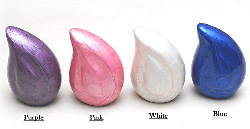 Elegant Keepsake Urns Set of 4 - Beautiful Mini Keepsakes - Keepsake Urns - Token Urns - Handcrafted and Affordable Mini Urns for Ashes - Best Deal (Tear Drop) by Trinityurns