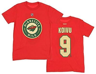 Reebok NHL Youth Boys Minnesota Wild Mikko Koivu #9 Player Tee, Red