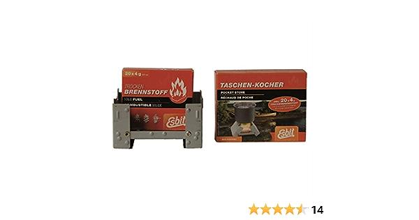 Esbit 16378 - Cocina de combustible seco para camping