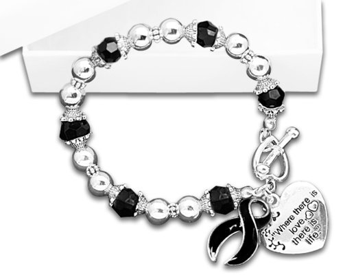 Melanoma Awareness Ribbon (Melanoma Awareness Ribbon Charm Bracelet - Where There Is Love (Retail))