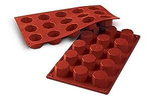 Sf037 molde de silicona 15 cavidades con forma de oct gonos color marr n hogar - Moldes silicona amazon ...