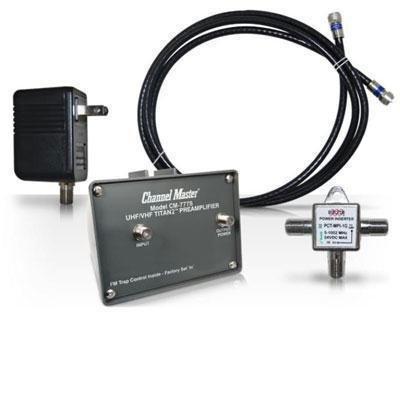 Channel Master Titan 2 Medium Gain TV Antenna Preamplifier (Tv Master Amplifier Channel)