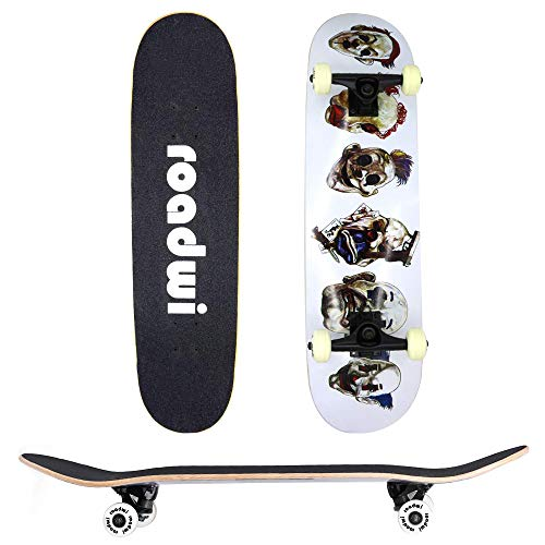 roadwi Skateboards Pro 31 inches Complete Skateboards for Girls,Boys,Adults