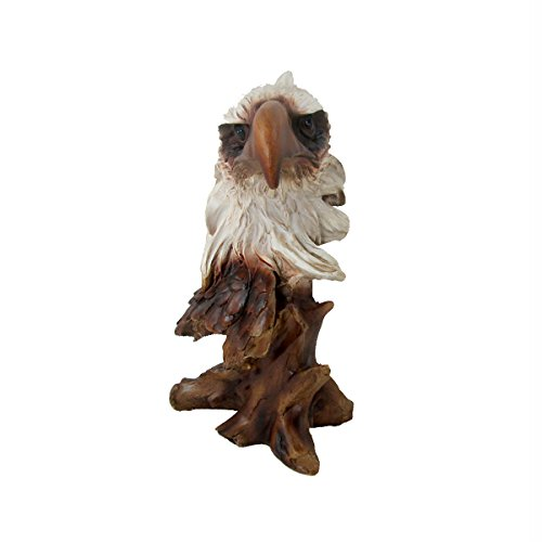 Animal Wildlife Collection Faux Wood Eagle Head Bust by WonderMolly