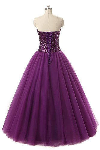 DKBridal Dresses Gown Quinceanera Sweetheart Tulle Green Prom Women's Sequins Crystals Ball OSrIqO