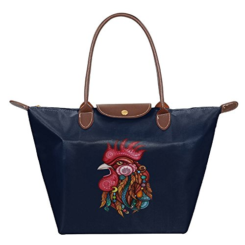 Shoulder Fashion Handbag Tote Hobo Womens Travel Bag Navy Tribal Beach Bags Rooster w8aZxRWBn